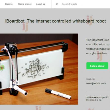 世界の裏側からでもお絵かき可能!?お絵描きロボット「iBoardbot」